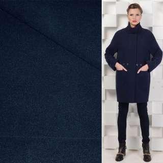 Тканина пальтова 2-х сторін. темно-синя ш.150 см.