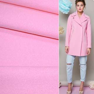 Тканина пальтова 2-х сторін. рожева ш.150 см.