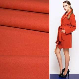 Тканина пальтова 2-х ст. морквяно-червона ш.150