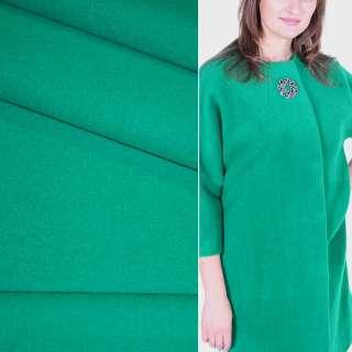 Тканина пальтова 2-ст. нефритова (зелена) ш.150