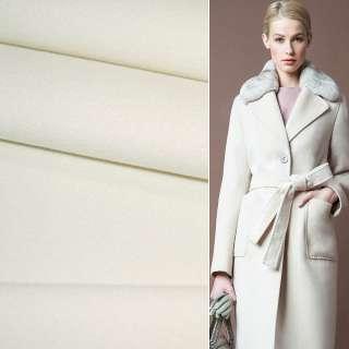 Тканина пальтова 2-ст. молочна ш.150