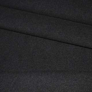 Ткань пальтовая 2-х стор. черная ш.150