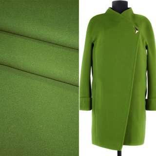 Тканина пальтова 2-ст. зелена однотонна, ш.150