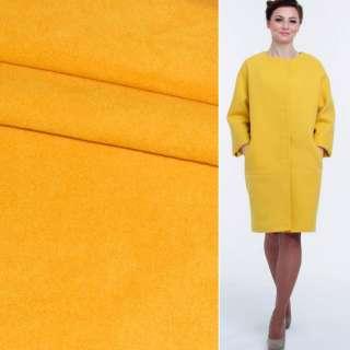Ткань пальтовая 2-х сторон. ярко-желтая ш.149