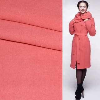 Ткань пальтовая 2-х сторон. св/корал. с розовым оттенком ш.150