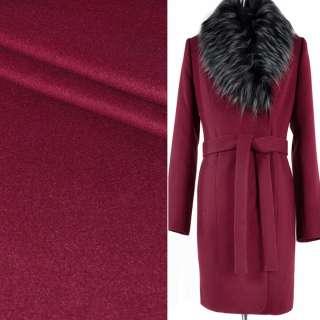 Ткань пальтовая 2-х сторон. бордовая ш.150