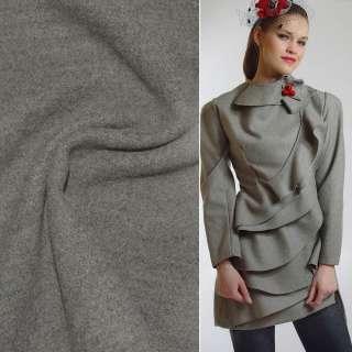 Ткань пальтовая 2-х сторон. серо-оливковая ш.149