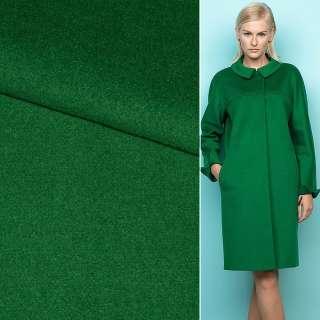 Ткань пальтовая 2-х сторон. темно-зеленая ш.150