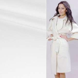 Ткань пальтовая 2-х сторон. белая ш.150 (пл.365)