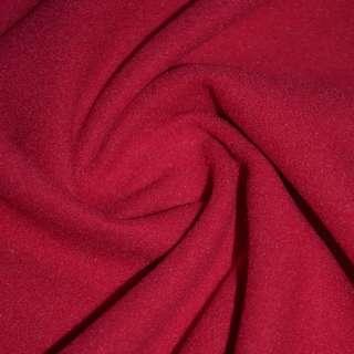 Ткань пальтовая красная на трикотажной основе ш.156