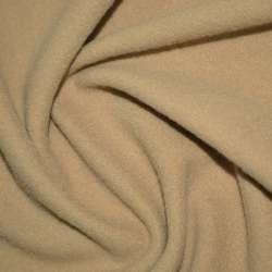 Тканина пальтова бежева на трикотажній основі ш.154