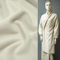 Тканина пальтова молочна на трикотажній основі ш.154