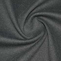 Тканина пальтова сіра асфальт на трикотажній основі ш.160
