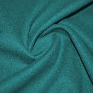 тк. пальтовая сине-зеленая на трикотаж. осн. ш.155