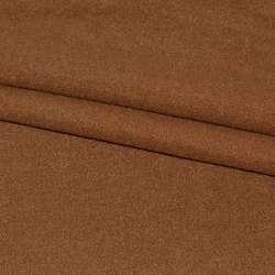 Тканина пальтова коричнева на трикотажній основі ш.155