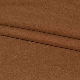 тк. пальтовая коричневая на трикот. осн. ш.155
