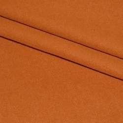 Тканина пальтова оранжево-руда на трикотажній основі ш.160