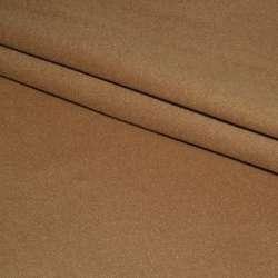Тканина пальтова бежева темна на трикотажній основі ш.160