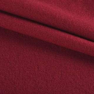 Тканина пальтова бордова на трикотажній основі ш.160