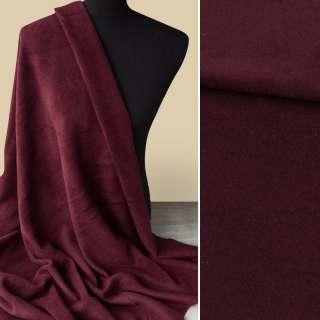 Кашемир пальтовый бордовый, ш.148
