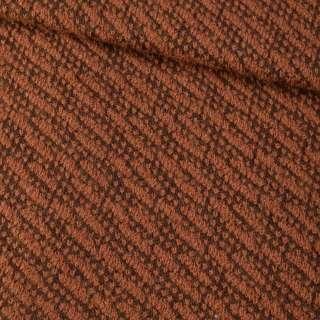 Пальтовий трикотаж-діагональ коричневий ш.150