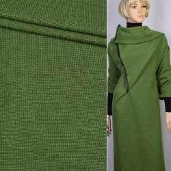 Пальтовий трикотаж двошаровий зелений (трав'яний) ш.150