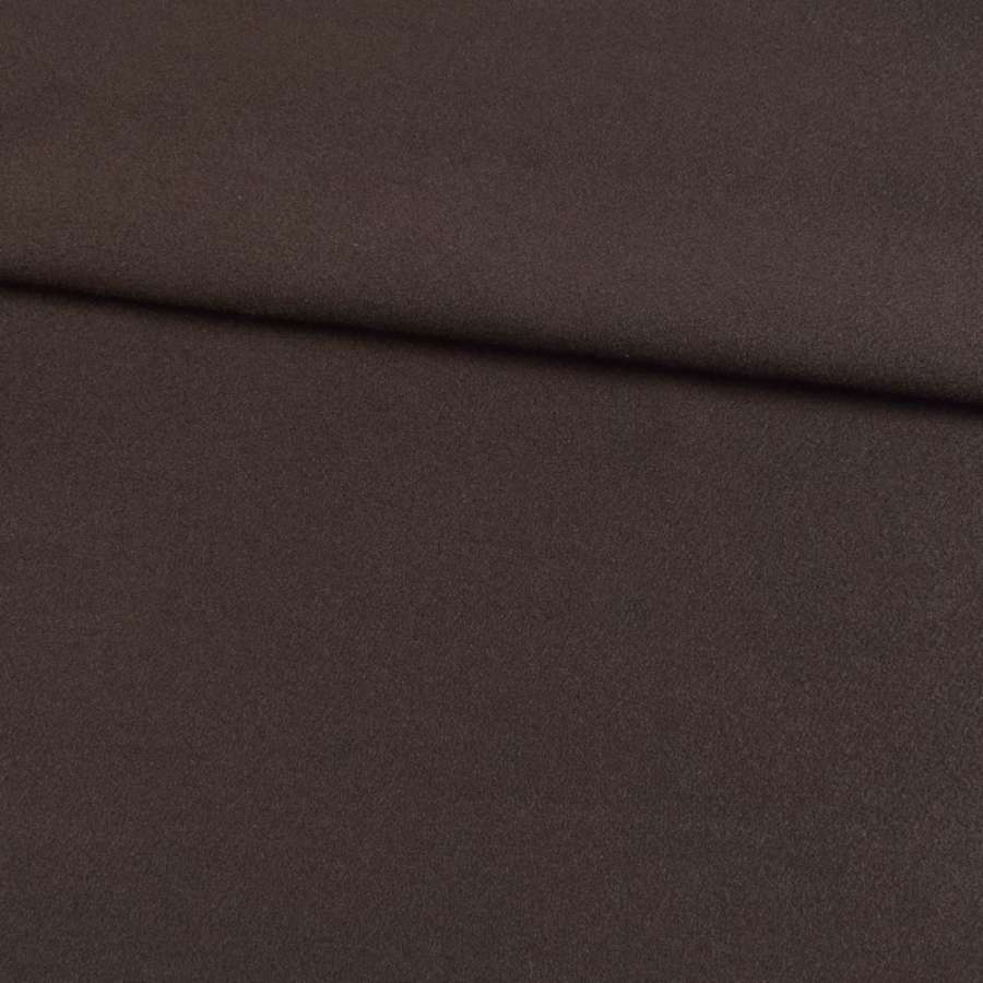Трикотаж пальтовий коричневий темний, ш.155