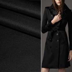 Поливискоза костюмная стрейч черная ш.150