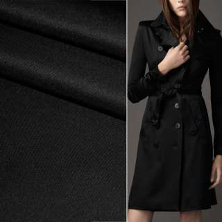 Полівіскоза костюмна стрейч чорна ш.150