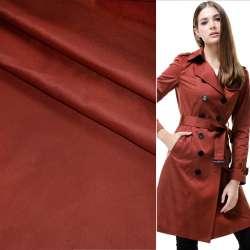 Поливискоза костюмная стрейч бордово-терракотовая ш.150