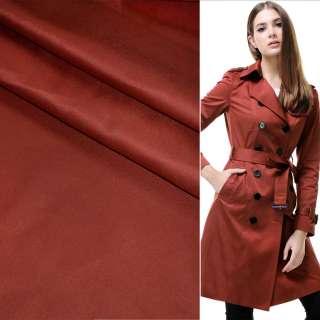 Полівіскоза костюмна стрейч бордово-теракотова ш.150