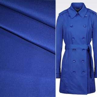 Поливискоза костюмная стрейч синий (электрик) ш.150