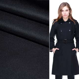 Поливискоза костюмная стрейч сине-черная ш.150
