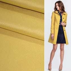 Поливискоза костюмная стрейч грязно-желтая ш.150