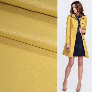 Поливискоза костюмная стрейч желтая темная ш.150