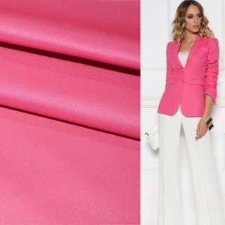 Поливискоза костюмная стрейч розовая яркая ш.150
