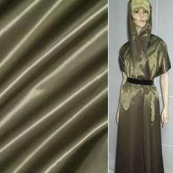 Ткань плащевая коричневая с зеленым отливом ш.140