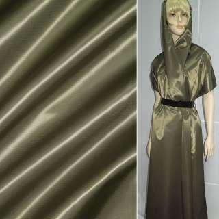 Тканина плащова коричнева із зеленим відливом ш.140