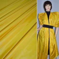 Ткань плащевая блестящая желтая ш.150