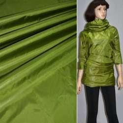 Тканина плащова блискуча зелена ш.150