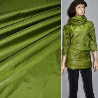 Ткань плащевая блестящая зеленая ш.150