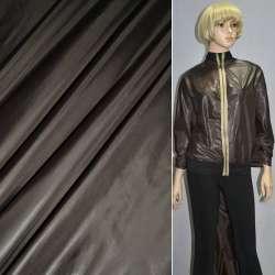Ткань плащевая блестящая коричневая темная ш.150