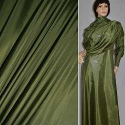 Ткань плащевая блестящая темная хаки ш.150