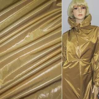 Ткань плащевая горчично-золотистая жатая без основы, ш.150