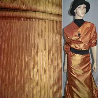 тафта жат. оранжево-золот. на трикотаж. основе ш.150