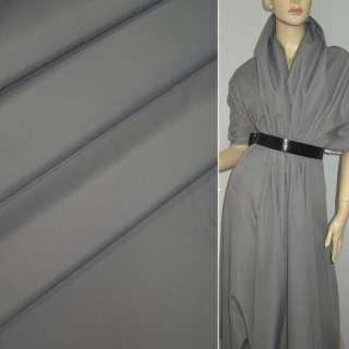 Ткань плащевая серая светлая на трикотажной основе ш.150