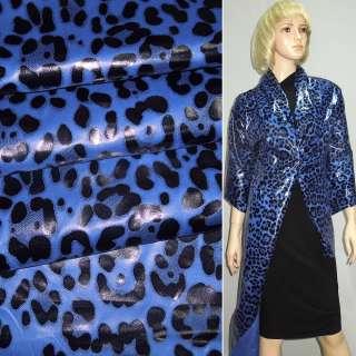 "Ткань плащевая синяя ""леопард"" ш.150"