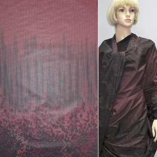 Ткань плащевая купон бордо на трикотажной основе, ш.150