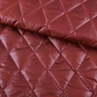 "ткань плащевая стеган. блестящ. бордовая ""ромбы"" 4,5х4,5 ш.150"