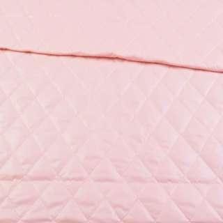 ткань плащевая стеганая розовая ромбы ш.150